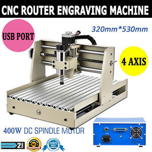 Cnc3040t 4 Axis Usb Router Engraver 400w Engraving Drilling Milling Machine New