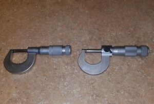 2 Brown Sharpe Micrometer 1 2 good Condition See Photos Swiss Made