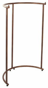 Boutique Cobblestone Half Round Clothing Rack