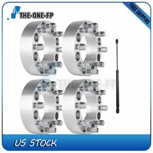 For Dodge Ram 2500 03 10 2 Thick 8x6 5 Wheel Spacers 2pc Front Hood Lift Struts