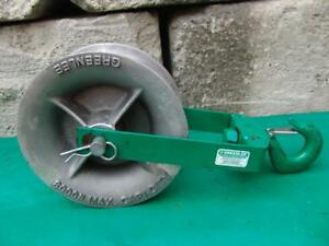 Greenlee 8012 12 Inch 8000 Lbs Sheave For Greenlee Tugger Puller Great Shape 3