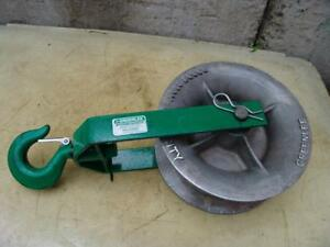 Greenlee 12 Inch 8000 Lbs Sheave For Greenlee Tugger Puller Great Shape