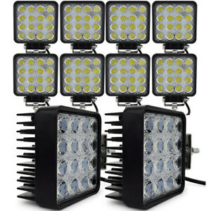 30x 48w Flood Led Off Road Work Light Lamp 12v 24v Car Boat Truck Driving