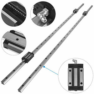 Hgh20 1200mm 2 X Linear Guideway Rail 4 X Blocks Smooth Sliding Hgh20uu 20mm