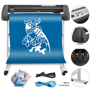 34 Vinyl Cutting Plotter Sign Cutter Usb Port Heat Transfer 3 Blades Updated