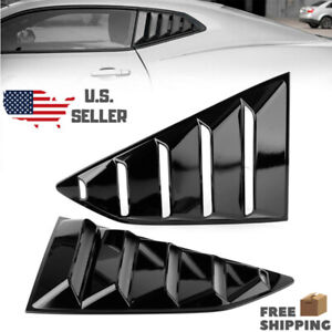 Quarter Window Louver Cover Vents For 2016 2018 Chevy Camaro Matte Black Side