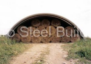 Durospan Steel 40x32x18 Metal Quonset Farm Building Kit Open Ends Factory Direct