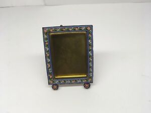Antique Italian Miniature Micro Mosaic Brass Picture Frame