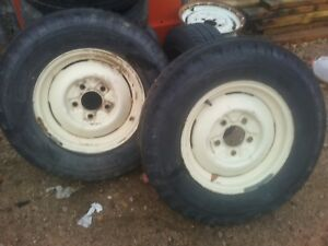 1956 F 100 Original Wheels And Tires All 4