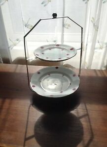 Antique Epns Silver Plate 2 Tier Cake Stand Christopher Johnson
