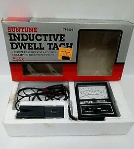 Suntune Cp7602 Engine Analyzer Inductive Dwell Rpm Tach 2 4 Cycle Clamp On W Box