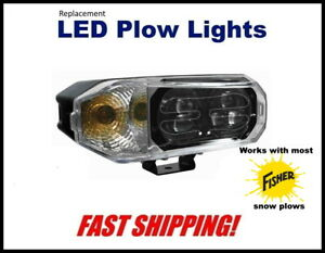 Fisher Super Bright Led Snow Plow Headlight Replacemant Plow Light Kit 0