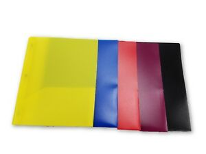 Two Pocket Plastic Folders With Fasteners Case Of 100