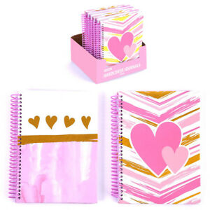 100 Sheet Simply Sweet Valentine And Love Spiral Journals Case Of 48
