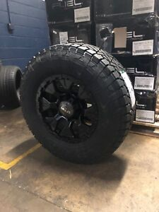 Helo He878 17x9 Wheels Rims 33 Fuel At Tires Package 5x4 5 Jeep Wrangler Tj