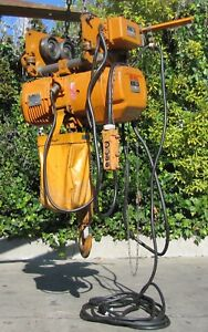 Ingersoll Rand 5 Ton Electric Chain Hoist And Motorized Trolley 11 Lift 480v 3