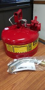 justrite 7225130z 2 5 Gallon Type Ii Safety Can Red