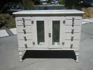 Vintage Medical Cabinet 1920 S Industrial Dental Apothecary Steampunk Steel