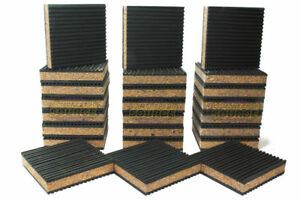 24 Pack Anti Vibration Pad Isolation Dampener Industrial Heavy Duty 4x4x7 8 Cork
