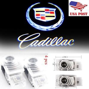 4x Cree Led Door Courtesy Laser Shadow Light Lamp For Cadillac Cts Ats Xts 13 16