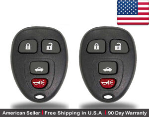 2x New Replacement Keyless Entry Remote Control Ouc60270 For Chevy Buick Gmc