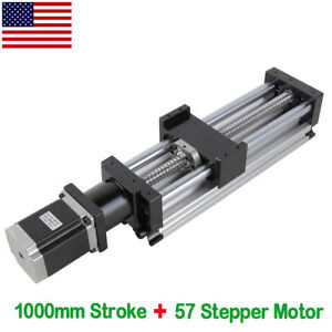 1000mm Long Stage Actuator Stepper Motor Ball Screw Linear Cnc Slide Stroke Usa