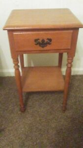 Ethan Allen Baumritter Side Table Red Autumn Maple 1930 S