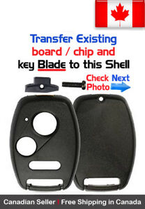 1x New Replacement Keyless Key Fob For Honda Acura Shell Case Only