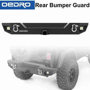 Taoautoparts Rear Bumper Fit For 87 06 Jeep Wrangler Tj Yj Rock Crawler Lights