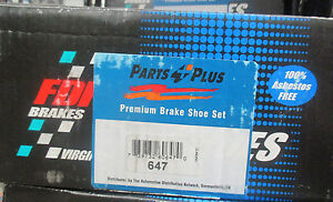 Brand New Fdp Parking Rear Brake Shoes 647 Fits Vehicles On Chart