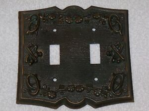 Vintage Antique Sears Metal Switch Plate Outlet Cover P N 30 4003