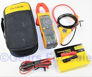 Fluke 381 Remote Display True Rms Ac dc Clamp Meter With Iflex Great Shape