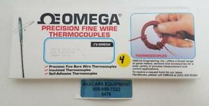 Omega Precision Fine Wire Thermocouples Sa1xl k 72 New Pack Of 4 6476