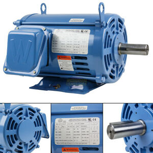 7 5 Hp 3 Phase Electric Motor 1800 Rpm 213t Frame Odp Open Drip Proof 230 460v