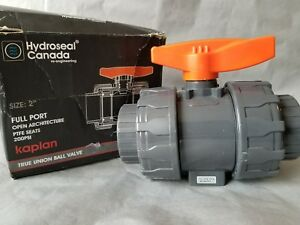 2 True Gray Union Pvc Ball Valve Socket With Full Port Rated At 200 Psi 2 Inch