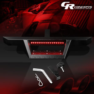Trailer Tow Hitch Step Bar pin clip W led Brake Light For 2 receiver 32 5 x2 25