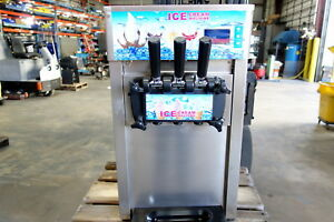 Soft Serve Ice Cream Machine 3 Flavor