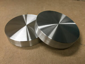 Aluminum Round Disc 68mm Dia Bar Circle Plate 2 Pcs 18mm Thick flat Nice Usa