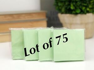 lot Of 75 Green Paper Note Pads 3x3 Sticky Pad Wholesale Lot New