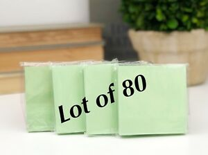 lot Of 80 Green Paper Note Pads 3x3 Sticky Pad Wholesale Lot New