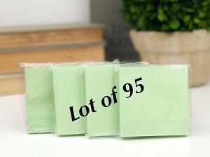 lot Of 95 Green Paper Note Pads 3x3 Sticky Pad Wholesale Lot New