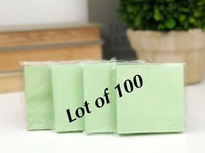 lot Of 100 Green Paper Note Pads 3x3 Sticky Pad Wholesale Lot New