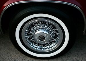4 P215 75r 15 Inch White Wall Tires 1 3 Ww Band Thick Fat Wide Gangster New