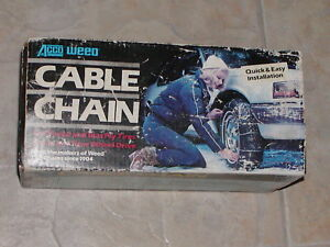 Cable Tire Chains Weed 1030 205 45 17 215 45 17 215 35 18 195 75 14
