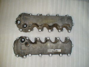 Used 05 10 Mustang Gt Engine Valve Covers With Mounting Bolts 4 6 Sohc 3 Valve