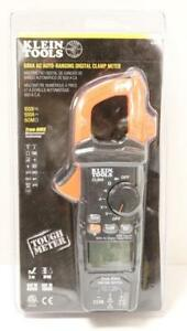 New Klein Tools Cl600 600 amp Ac Auto Ranging Digital Clamp Meter