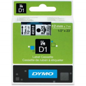 Dym45010 Dymo Black On Clear D1 Label Tape Pack Of 2