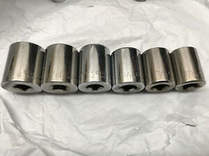 Craftsman G Series Large Sae Socket Set 6pc Sockets 1 2 Drive Usa Made