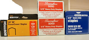 Bostitch Swingline 3 8 5 8 Heavy Duty Staples Mostly Full Boxes
