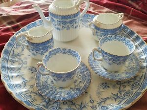 Antique 1880 S Elgin English Tea For Two Set With Underplate Rare